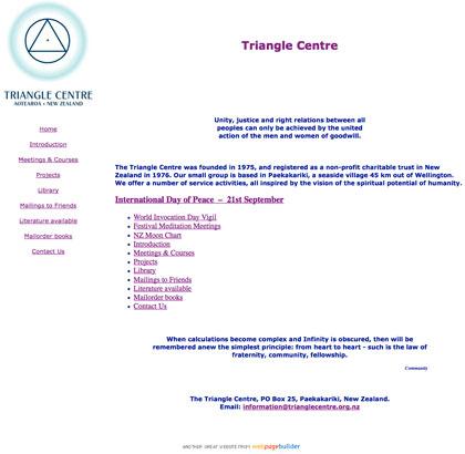 Visit trianglecentre.org.nz